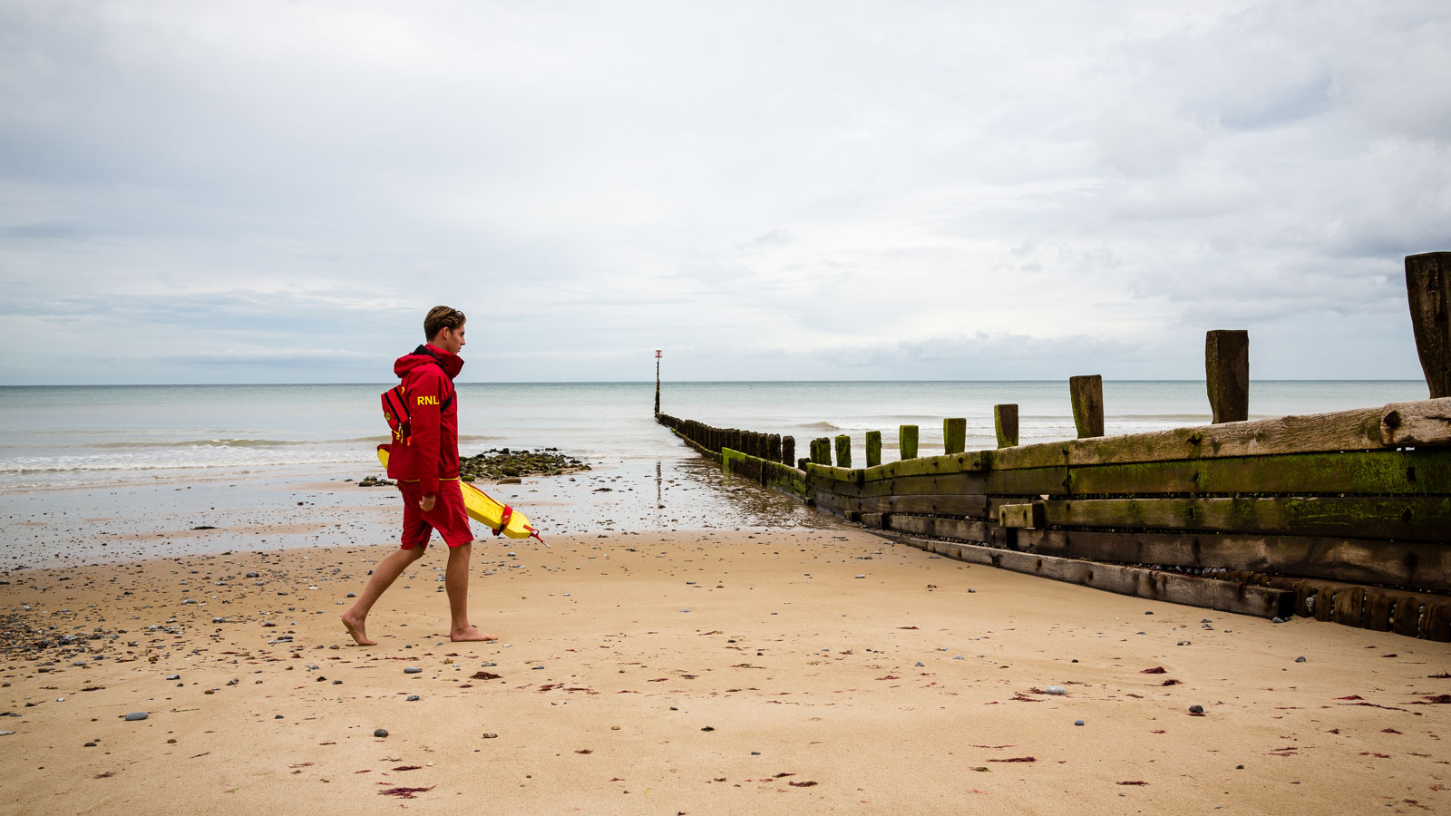 lifeguard patrols along cromer beach norfolk